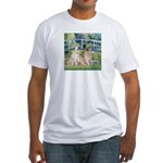 Bridge / Great Pyrenees (2) Fitted T-Shirt