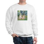 Bridge / Great Pyrenees (2) Sweatshirt