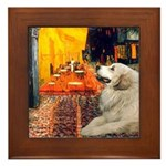 Cafe / Great Pyrenees Framed Tile