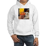 Cafe / Great Pyrenees Hooded Sweatshirt
