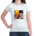 Cafe / Great Pyrenees Jr. Ringer T-Shirt