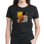Cafe / Great Pyrenees Women's Dark T-Shirt