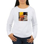 Cafe / Great Pyrenees Women's Long Sleeve T-Shirt