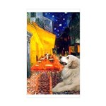 Cafe / Great Pyrenees Sticker (Rectangle 50 pk)