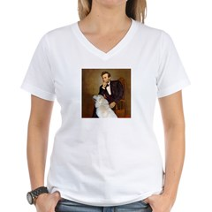 Lincoln / Great Pyrenees Women's V-Neck T-Shirt