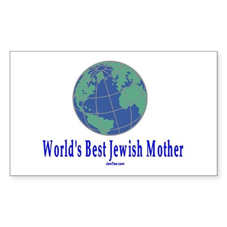 World's Best Jewish Mother Rectangle Sticker