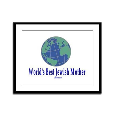 World's Best Jewish Mother Framed Panel Print