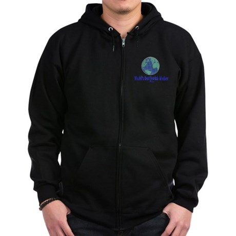 World's Best Jewish Mother Zip Hoodie (dark)