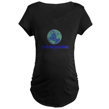 World's Best Jewish Mother Maternity Dark T-Shirt