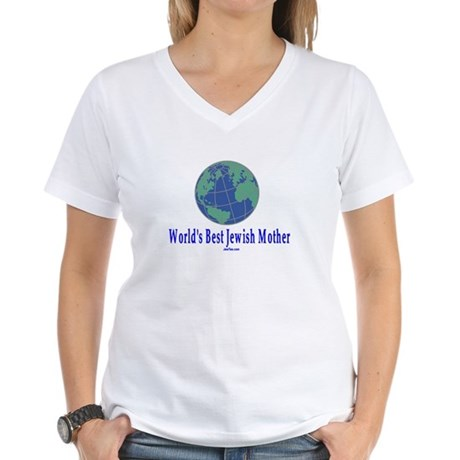 World's Best Jewish Mother Women's V-Neck T-Shirt