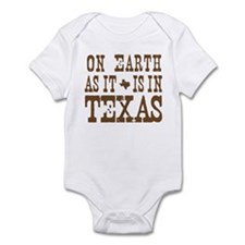 On Earth As It Is in Texas Infant Bodysuit