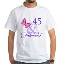 45 And Fabulous Birthday Gifts Shirt