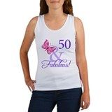 50 And Fabulous Birthday Gifts Women's Tank Top