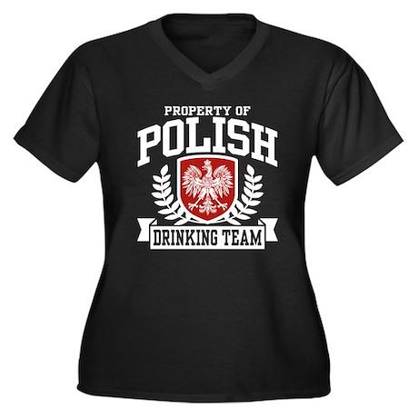 Polish Drinking Team Women's Plus Size V-Neck Dark