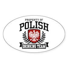 Polish Drinking Team Oval Stickers