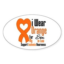 Leukemia Son-in-Law Oval Sticker (10 pk)