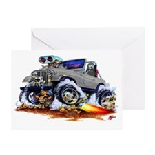 Jeep Silver/Grey Greeting Card