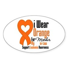 Leukemia Mother-in-Law Oval Decal