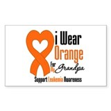 Leukemia Grandpa Rectangle Sticker 50 pk)