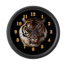Go Wild Tiger Large Wall Clock