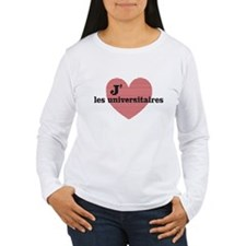 Women's Lng Slv T-Shirt - J'aime les universitaire
