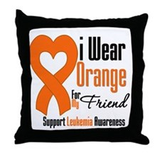 Leukemia I Wear Friend Throw Pillow