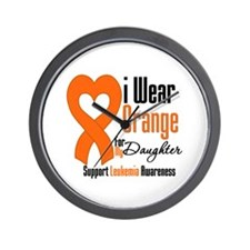 Leukemia Daughter Wall Clock