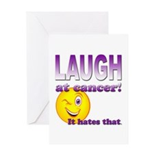 Laugh at Cancer Greeting Card
