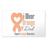 Leukemia Dad Rectangle Sticker 10 pk)