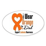 Leukemia Dad Oval Decal