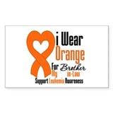 Leukemia Brother-in-Law Rectangle Decal