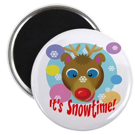 "It's Snowtime! 2.25"" Magnet (100 pack)"