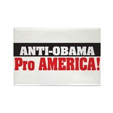 Anti Obama Pro America Rectangle Magnet (10 pack)