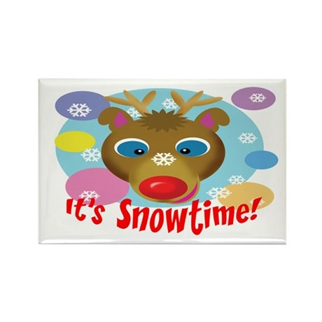It's Snowtime! Rectangle Magnet (100 pack)