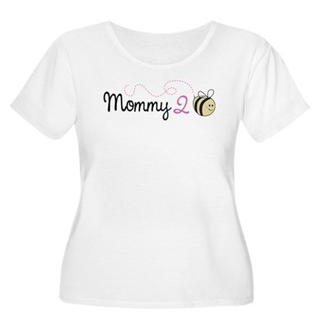 Mommy To Bee Women's Plus Size Scoop Neck T-Shirt