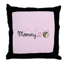 Mommy To Bee Throw Pillow