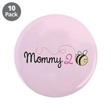 "Mommy To Bee 3.5"" Button (10 pack)"