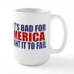 I want it to fail Large Mug