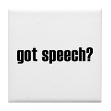got speech? Tile Coaster