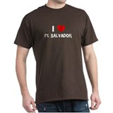 I LOVE EL SALVADOR Black T-Shirt