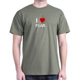 I LOVE ELIAN Black T-Shirt