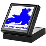 yamaha blue kill your sportbi Keepsake Box