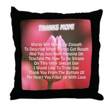 Thanks Mom Words Poem Throw Pillow