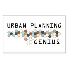 Urban Planning Genius Rectangle Decal