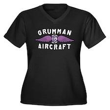 Cute Baldwin Women's Plus Size V-Neck Dark T-Shirt
