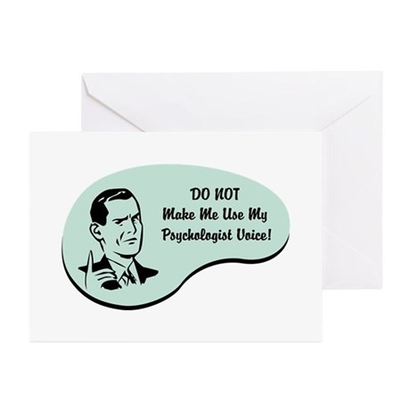 Psychologist Voice Greeting Cards (Pk of 20)