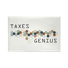 Taxes Genius Rectangle Magnet