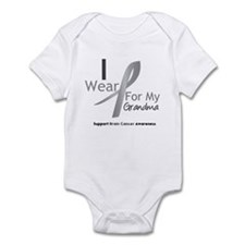 Gray Ribbon Grandma Infant Bodysuit