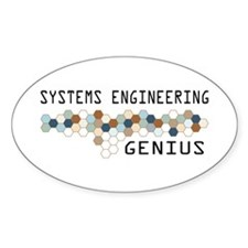 Systems Engineering Genius Oval Sticker (10 pk)