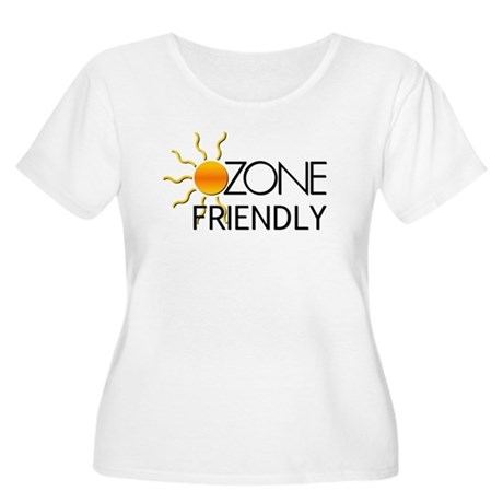 Ozone Friendly Women's Plus Size Scoop Neck T-Shir